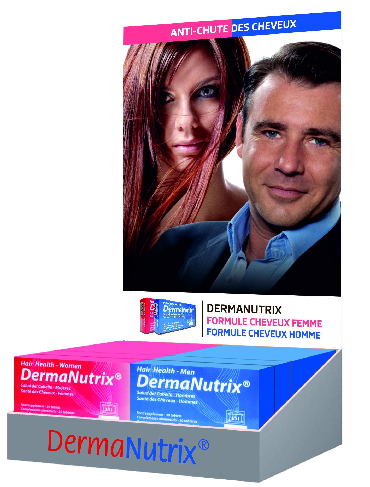 dermanutrix cheveux femme complement alimentaire chute de cheveux perte de cheveux cheveux. Black Bedroom Furniture Sets. Home Design Ideas